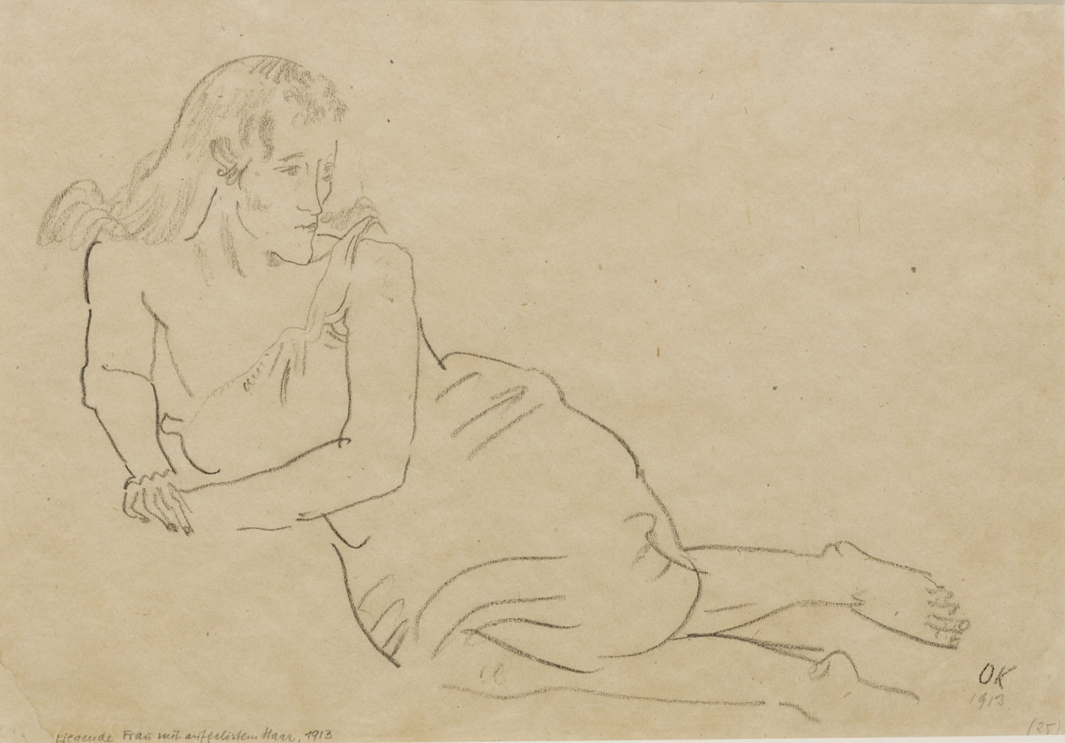 Kokoschka Reclining Woman 1913